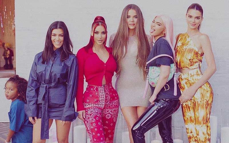 Kim Kardashian Shares Her Version Of 'Spice Girls' With Sisters Kourtney, Khloe, Kendall And Kylie; Son Saint West Photo Bombs