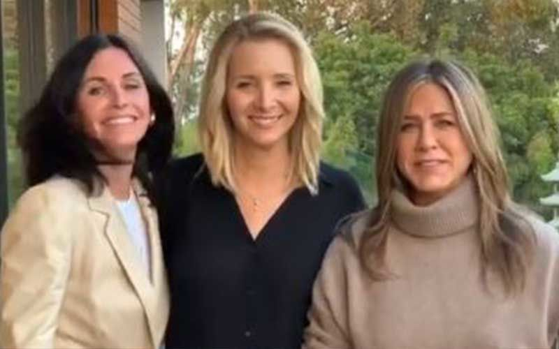 Monica, Rachel and Phoebe Reunite; Courteney Cox, Lisa Kudrow And Jennifer Aniston Say 'Friends Don't Let Friends Skip Elections'-WATCH