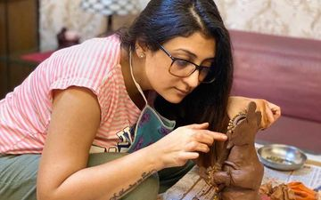 Juhi Parmar Shares A Video As She Makes An Eco-Friendly Ganpati Idol At Home; Reveals It Was A Magical Feeling After The Idol Was Complete