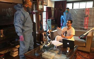 Filmmaker Ali Abbas Zafar Shares Pics Of Saif Ali Khan At His House During A Dubbing Session Of Tandav; Gives A Sneak-Peek Of 'The New Way Of Working'