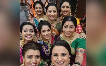 The TV Show Aai Kuthe Kay Karte Diva Show Off Their Nathicha Nakhra