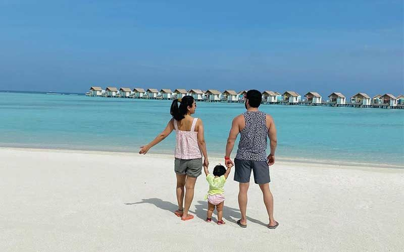 Ankita Bhargava Shares A Family Picture With Karan Patel And Daughter Mehr From Maldives Vacay; Reveals Why She Couldn't Click Oh-So-Dreamy Pics
