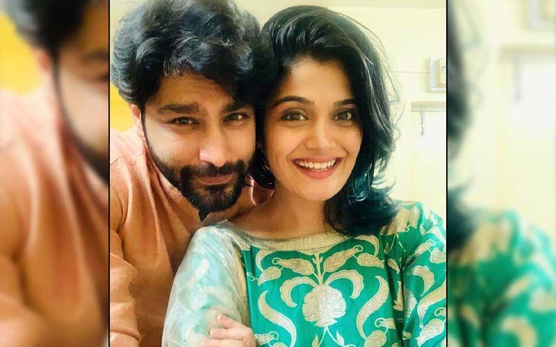 Isha Keskar And Rishi Saxena Love Posing For Wedding Pictures