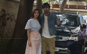 Ranbir Kapoor And Alia Bhatt Get Clicked At The Their New Under-Construction Bungalow; Couple Arrives Together To Check Progress