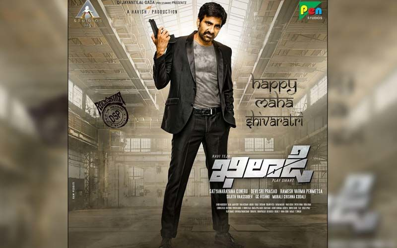Ravi Teja Shares A BTS From The Sets Of 'Khiladi'; Says, 'Action Mode On'