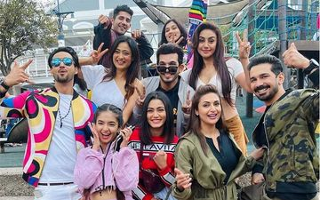 Khatron Ke Khiladi 11: Shweta Tiwari, Abhinav Shukla, Divyanka Tripathi, Arjun Bijlani And Others Strike A Cool Pose For The Camera; Sana Makbul Drops Classy Group Photos
