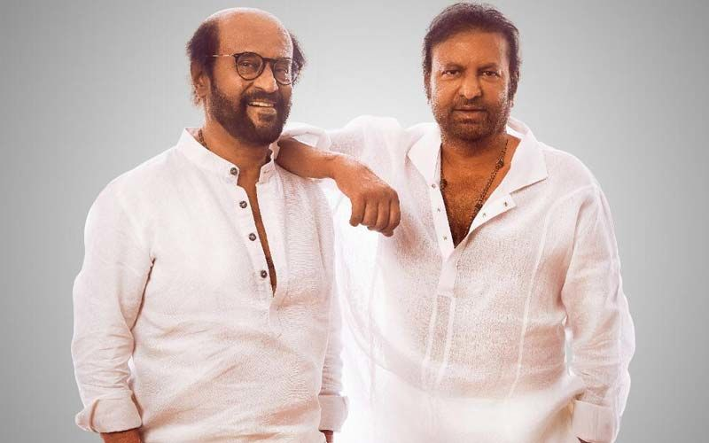 Superstar Rajinikanth Twinning With Best Friend Collection King Mohan Babu- Photo Goes Viral