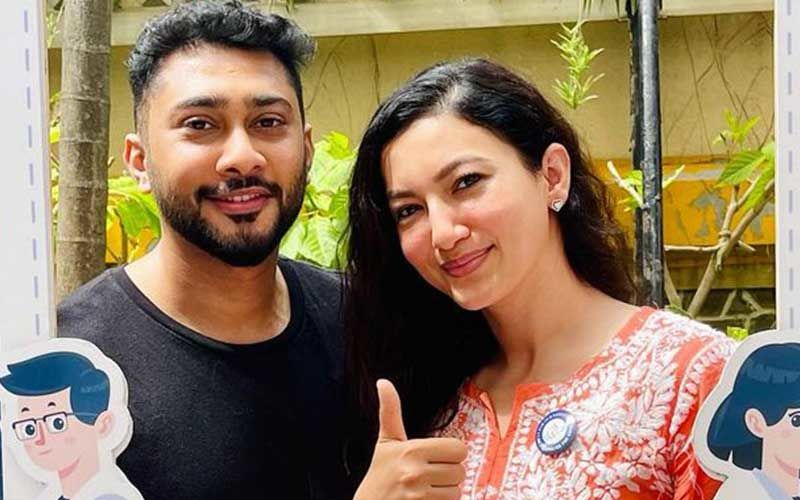 Gauahar Khan And Zaid Darbar Receive The COVID-19 Vaccine Shot; Actress Shares A Pic From Vaccination Centre
