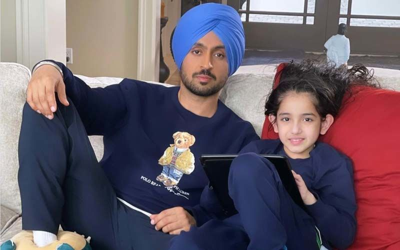 Honsla Rakh: Diljit Dosanjh Shares An Adorable Picture With Shinda Grewal From The Sets Of His Upcoming Film