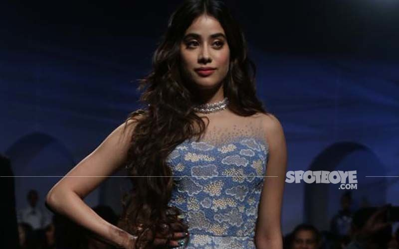 Blue Belle Janhvi Kapoor In This Icy-Blue Tulle Gown Looks Like Cinderella Come To Life