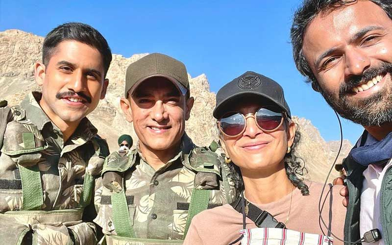 Laal Singh Chaddha: Aamir Khan And Kiran Rao Are All Smiles As They Pose For A Photo While Working Together Post Divorce Announcement; Chaitanya Akkineni Shares Pic