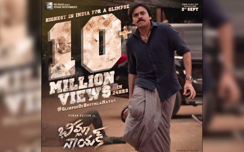 Pawan Kalyan's Bheemla Nayak Trailer Crosses 10 Million Views In Less Than 24 Hours