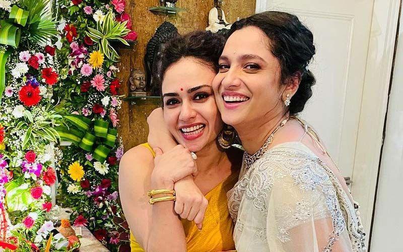 Amruta Khanvilkar Visits Ankita Lokhande's Bappa; Their BFF-Love Is Unmatched