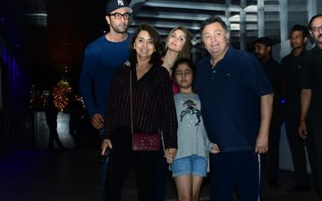 Rishi Kapoor Asks Paps To Behave, Says  'Chilana Nahi' As He Steps Out With Ranbir Kapoor And Fam - VIDEO