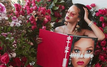 Rihanna Strips To Nothing In Her Lastest Shoot, Covers Her Modesty With Just A Book