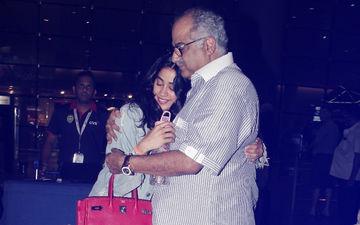 Boney Kapoor Gives Daughter Janhvi A Warm Hug As She Returns From New York