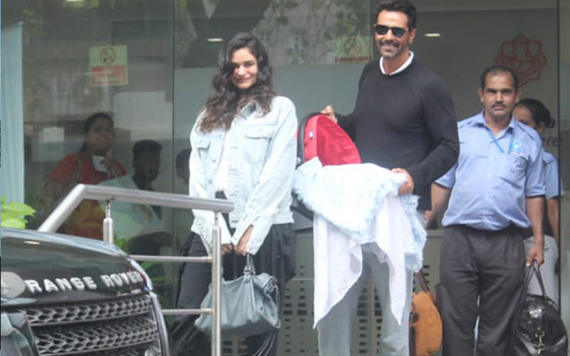 Arjun Rampal And Gabriella Demetriades Take Their Baby Boy Home; Can't Miss The Wide Smile On Their Faces