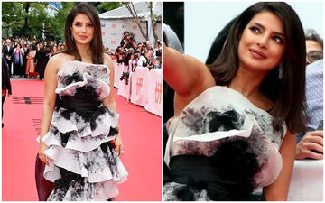 Priyanka Chopra Jonas Is A Monochrome Yummylicious Layered Cake In This Marchesa Number!