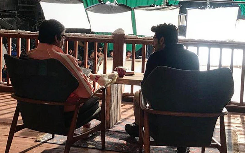 Kartik Aaryan Ticks Off A Box In His Bucket List As He Spends Time With Amitabh Bachchan On Set