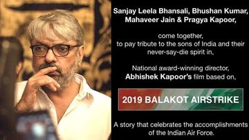 Sanjay Leela Bhansali Announces A Film On IAF's 2019 Balakot Airstrike; To Be Helmed By Abhishek Kapoor