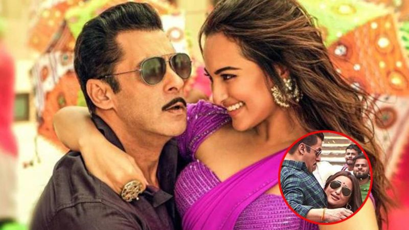 Sonakshi Sinha Once LIFTED Salman Khan On The Sets Of Dabangg 3; Check Out THIS Pic To Believe Us