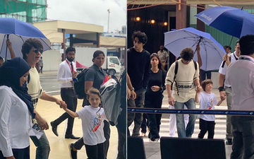 Suhana Khan, Aryan Khan And AbRam Khan Jet Off To Maldives With Daddy Dearest Shah Rukh Khan