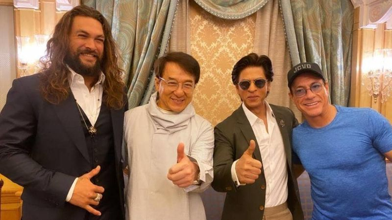Shah Rukh Khan, Jean-Claude Van Damme, Jackie Chan and Jason Momoa Strike A Pose For One Epic Picture; We Don't Mind A Film With Them