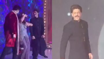 Shah Rukh Khan-Gauri Khan Literally Break The Dance Floor; But What's With That Moustache, Bruv? – INSIDE VIDEO From Armaan Jain's Reception