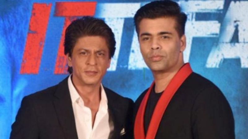 Karan Johar Shares TB Pic Of Shah Rukh Khan Dancing At A Function; Calls Himself The 'Out Of Sync Background Dancer'