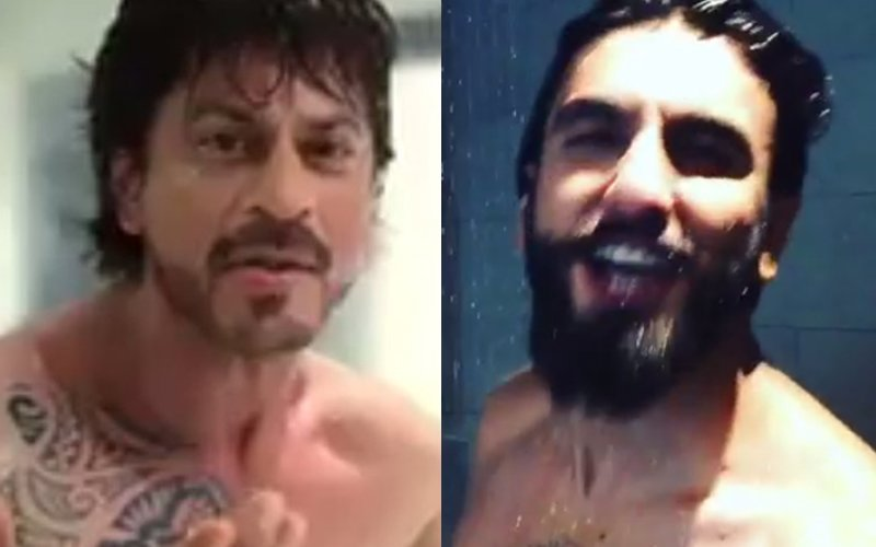 SRK, Ranveer Start A New Trend: The Social Media Shower