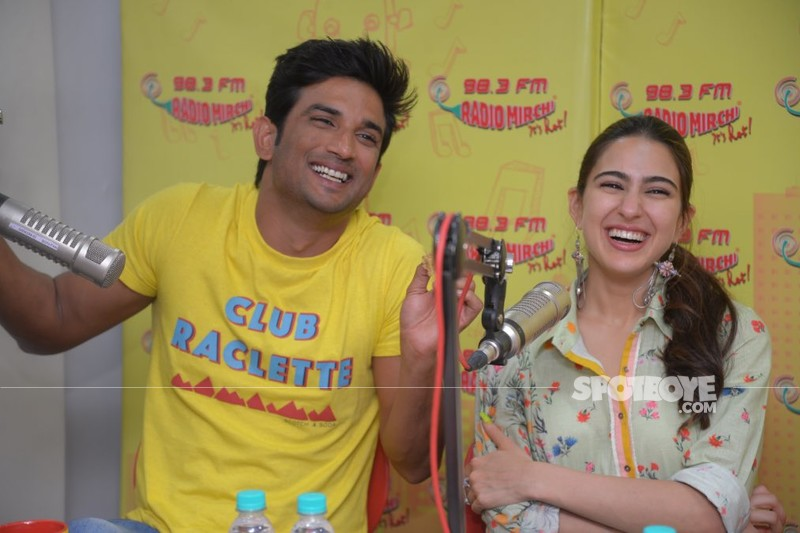 Sushant Singh Rajput with Sara Ali Khan