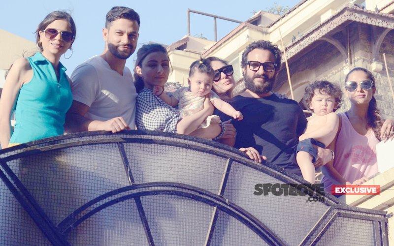 Taimur & Inaaya Meet The Paparazzi With Kareena, Saif, Soha & Kunal
