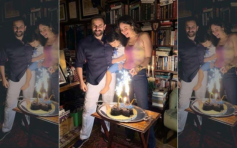 Kareena Kapoor Khan And Saif Ali Khan's Wedding Anniversary Celebration Pictures With Son Taimur Are LIT