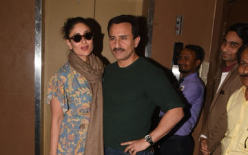 Saif Ali Khan Out On A Movie Date With Kareena Kapoor Khan Amidst Backlash On His Statement On History Of India