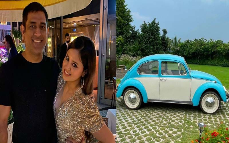 MS Dhoni Gifts Wife Sakshi A Vintage Car On Their 11th Wedding Anniversary; Latter Thanks Her Hubby And Gives A Glimpse Of The Special Gift