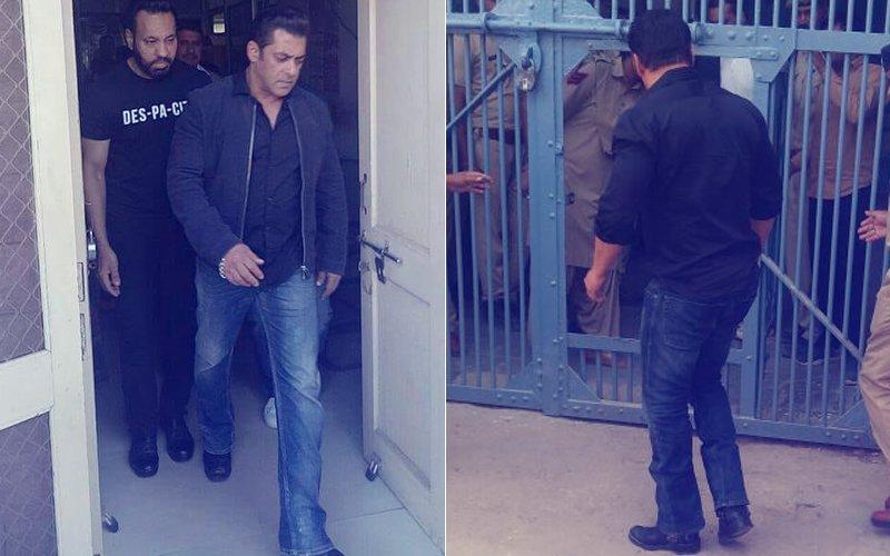 Pics & Video: Salman Khan Reaches Jodhpur Central Jail; Will Spend The Night In Prison