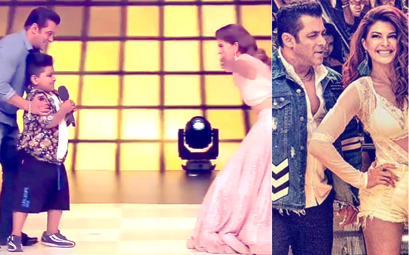 Internet Is Disgusted That Salman Khan Forced A Little Kid To Hug Jacqueline Fernandez