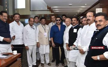 Congress Leaders Go To Receive Rahul Gandhi At Mumbai Airport, End Up Clicking Pic With Salman Khan!