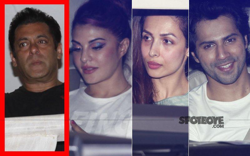 Late Night Visitors At Salman's Galaxy Apartments: Varun, Jacqueline, Bobby, Malaika, Amrita Welcome The Star