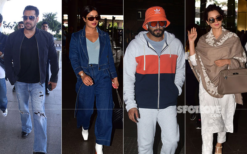 Celeb Spottings: Salman Khan Makes A Casual Splash, Priyanka Chopra Turns Denim Baby, Ranveer Singh Keeps It Casual Yet Funky