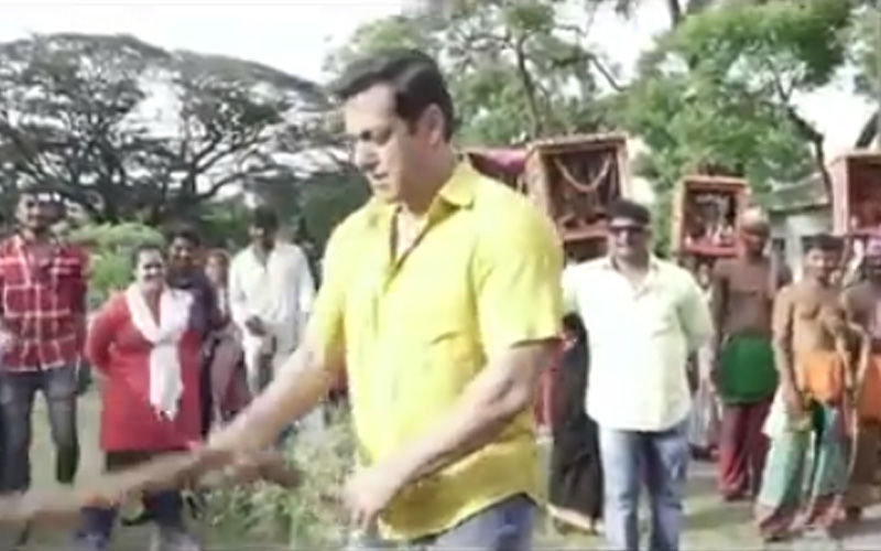 Watch Salman Khan Hurt Himself On The Sets Of Dabangg 3 Even As The Crew Looks On
