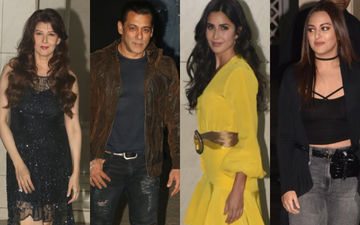 #HappyBirthdaySalmanKhan: Arpita Khan Sharma, Katrina Kaif, Sangeeta Bijlani, Sonakshi, Pulkit-Kriti Attend The Bash