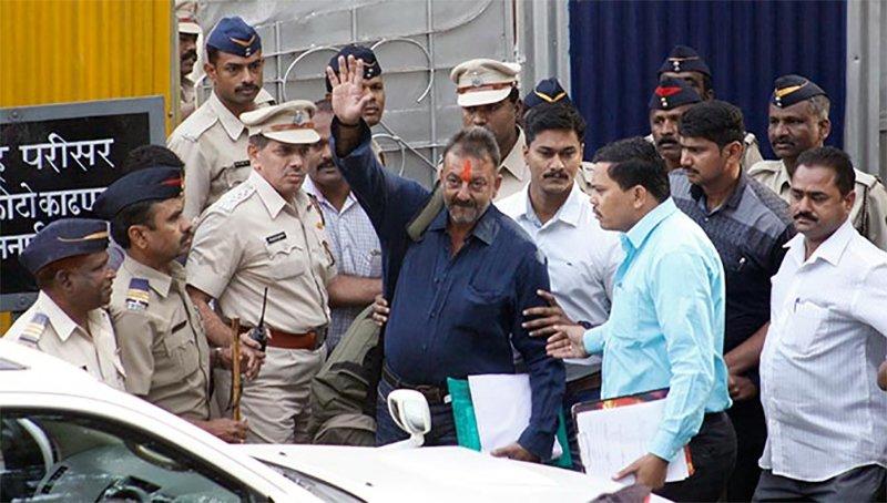 Sanjay Dutt Walks Out Of The Jail