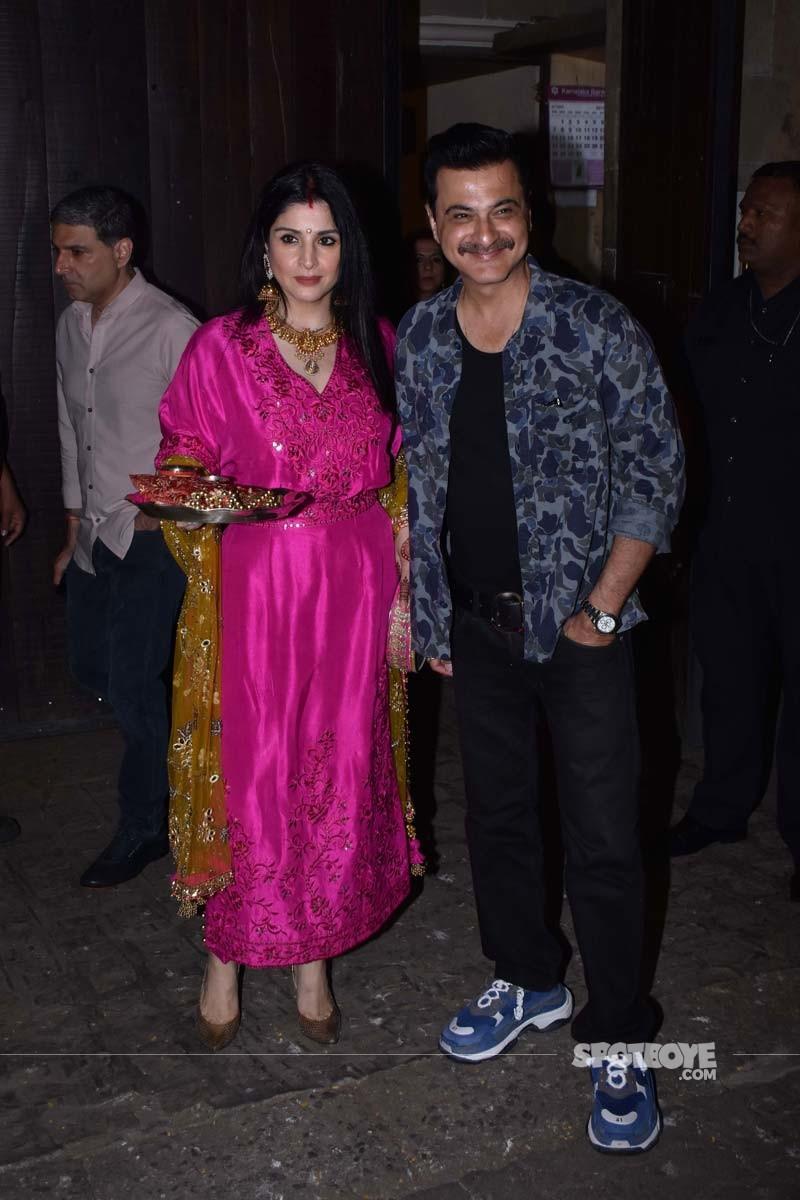 Sanjay Kapoor and wife Maheep Kapoor At Anil Kapoors Party