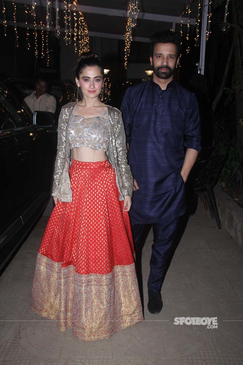 Sanjeeda Shaikh And Aamir Ali Spotted At Diwali Party