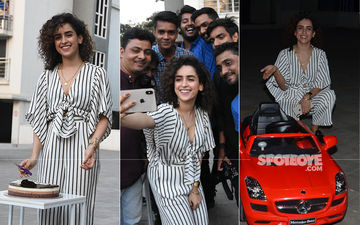Sanya Malhotra Celebrates Her Birthday With The Paparazzi
