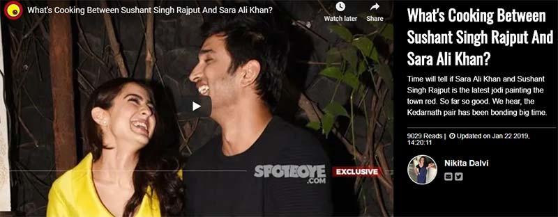 Sara Ali Khan Sushant Singh Rajput