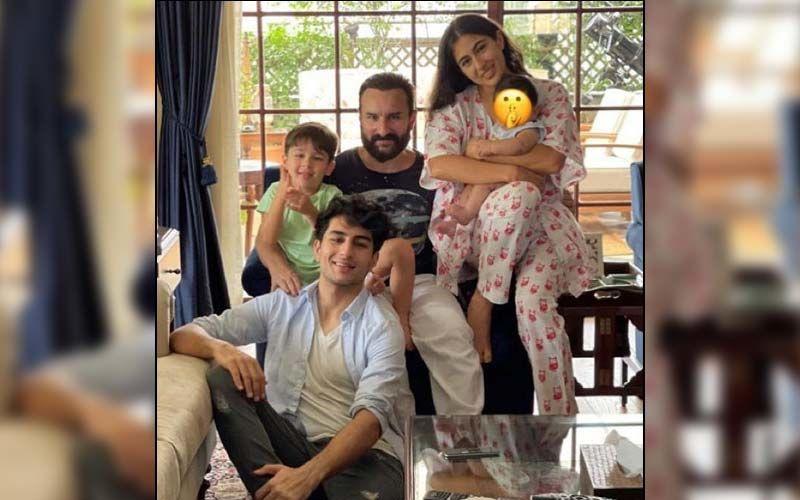 Sara Ali Khan Poses With Jeh, Taimur, Ibrahim And Saif Ali Khan To Wish Eid Mubarak; The Pic Has A Twist Though