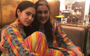 Sara Ali Khan's Saturday Day Out With Mommy Amrita Singh Is All About Matching Outfits; Their Fancy Masks Are Fashion Goals