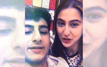 Sara Ali Khan Climbs Onto Brother Ibrahim Ali Khan's Shoulders For Post Rakhi Shots; Says She Had To Bribe Him In The Hilarious Caption